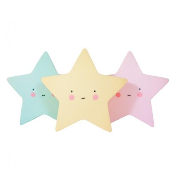 Star Επιτραπέζιο Φωτιστικό Νύχτας Ροζ 15x15cm