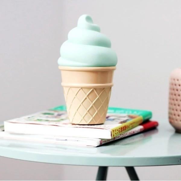 Ice Cream Επιτραπέζιο Φωτιστικό Νύχτας Λευκό 8x15cm