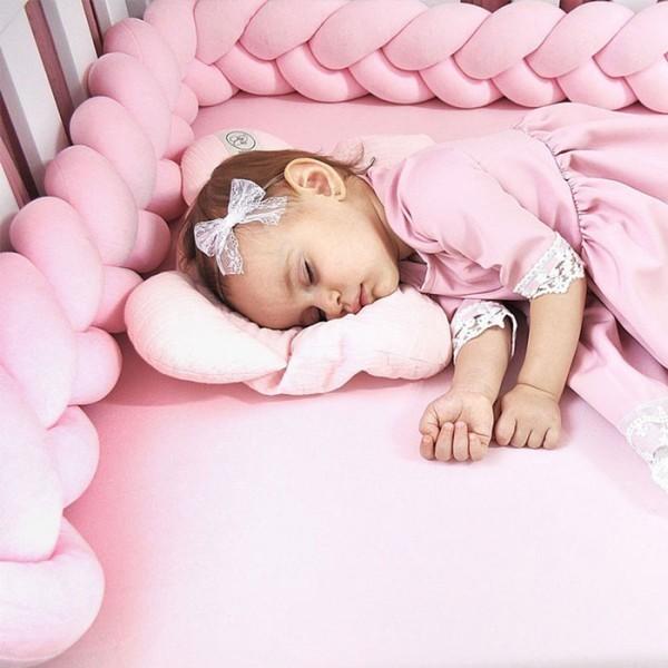 Care Μαξιλάρι Για Κούνια Μωρού Ροζ 12x200cm