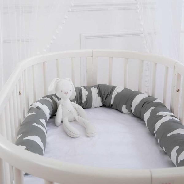 Lullaby Μαξιλάρι Για Κούνια Μωρού Γκρι 12x200cm