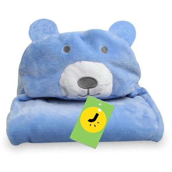 Cartoon Παιδική Κουβέρτα Μπάνιου Μπλε Αρκουδάκι
