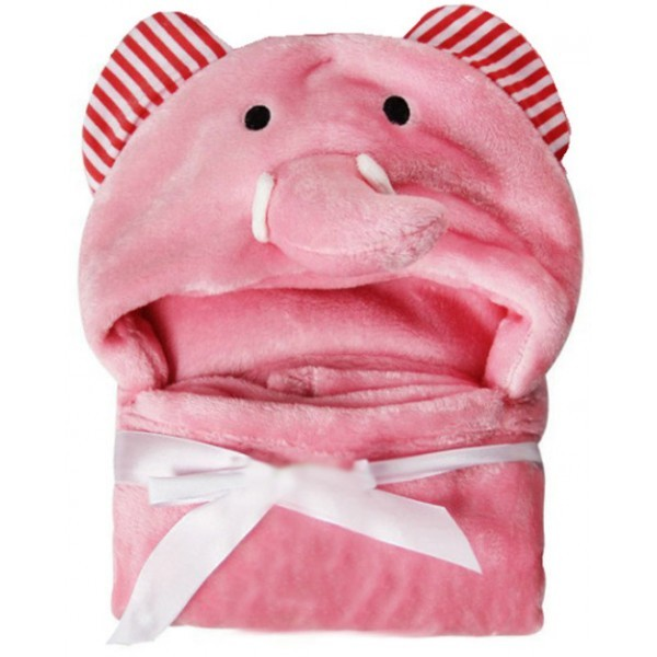 Cartoon Παιδική  Κουβέρτα Μπάνιου Ροζ Ελέφαντας