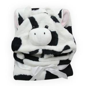 Cartoon Παιδική  Κουβέρτα Μπάνιου Ασπρόμαυρη Αγελαδίτσα