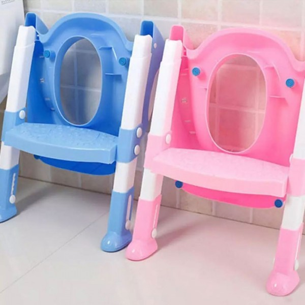 YoYo Εκμάθηση Τουαλέτας Με Σκάλα Για Παιδάκια Ροζ 37x59cm