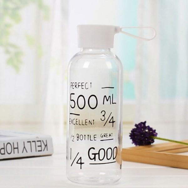 Teblot Γυάλινο Μπουκάλι Νερού 650ml 6,5x20,5cm