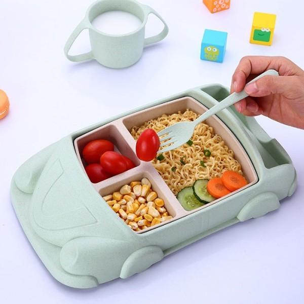 Cabriolet Σετ Φαγητού Μωρού Ροζ Σε Σχήμα Αυτοκινητάκι 30.6x19.5x5cm
