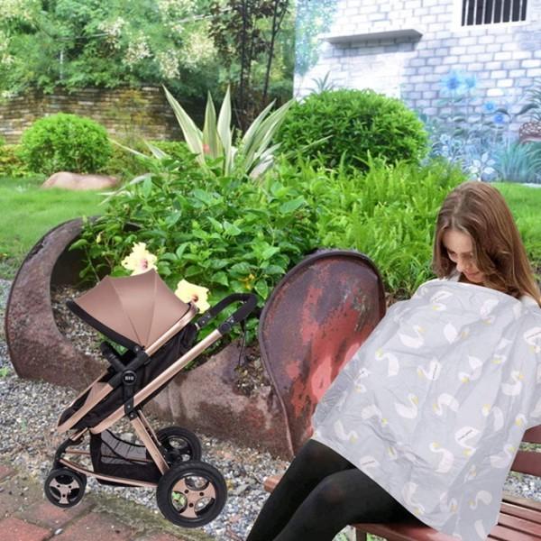 Sabana Σεντονάκι Θηλασμού Γκρι Με Κύκνους 100x70cm