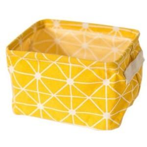 Stor Κουτάκι Αποθήκευσης Κίτρινο Μοτίβο 20x16x14cm