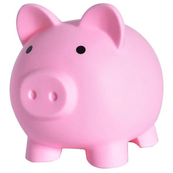Piggy Κουμπαράς Γουρουνάκι Βινυλίου Κίτρινο 9x9cm