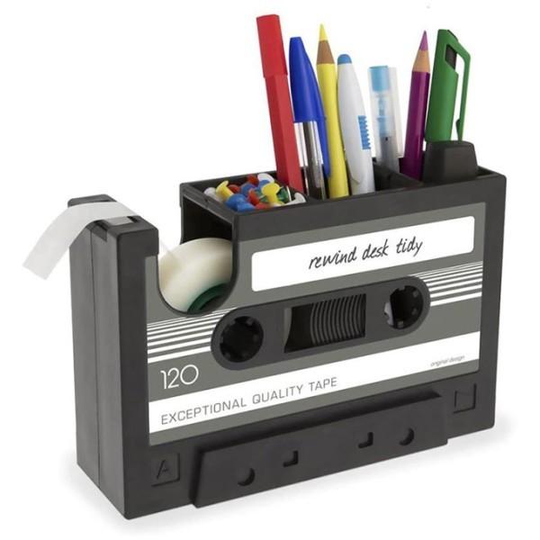 Cassette Μολυβοθήκη Με Θήκη Για Σελοτέιπ Ροζ 16,8x11x5,2cm