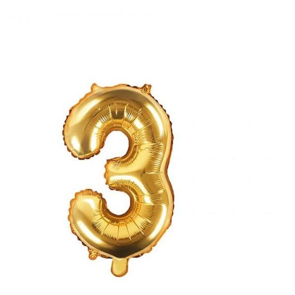 Numbers Μπαλόνι Αριθμός Νο3 Χρυσό