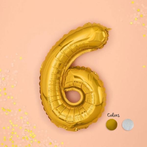 Numbers Μπαλόνι Αριθμός Νο6 Χρυσό