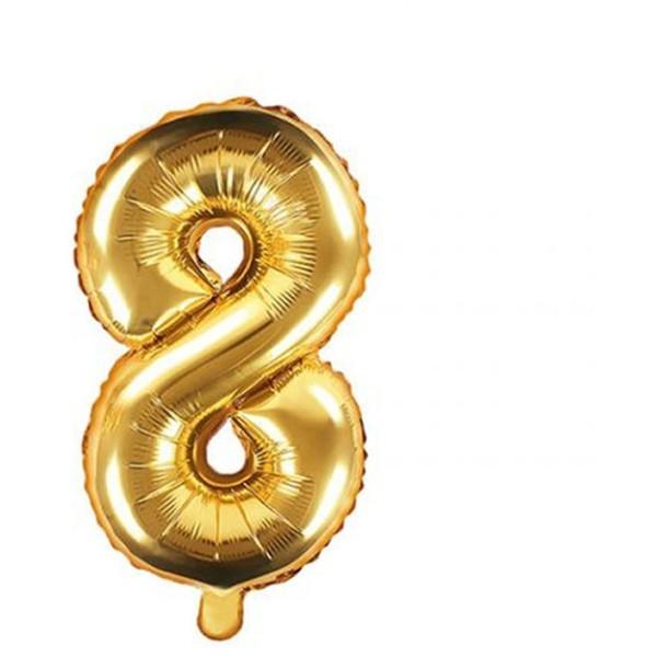 Numbers Μπαλόνι Αριθμός Νο8 Χρυσό