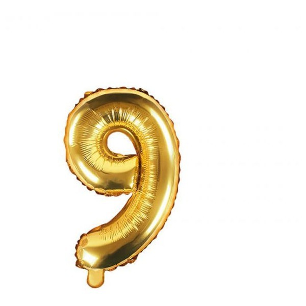 Numbers Μπαλόνι Αριθμός Νο9 Χρυσό