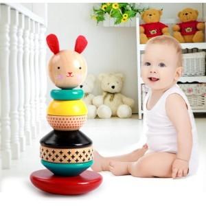 Rabbit Παιδικό Ξύλινο Παιχνίδι 10x16.5cm