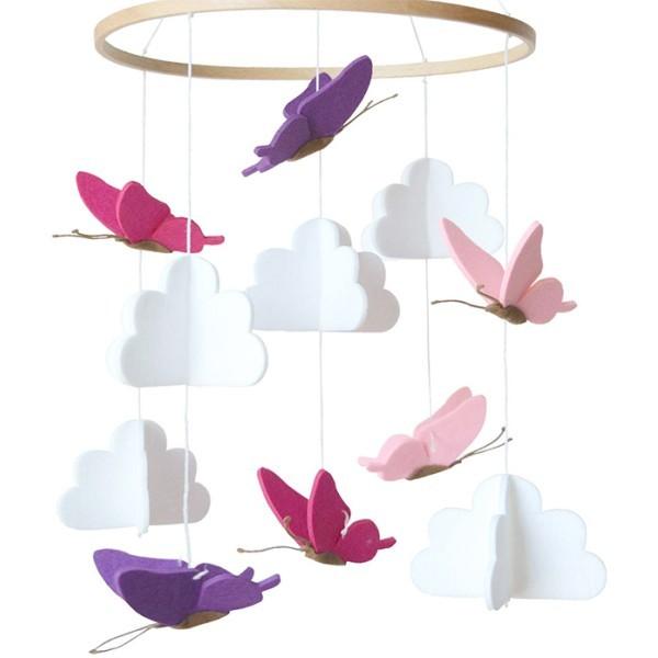 Fly Mobile Από Τσόχα Με Πεταλούδες 23x55cm