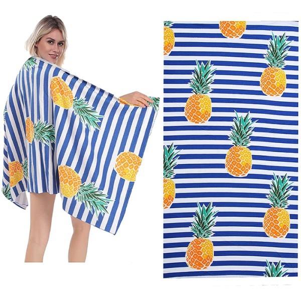 Summer Παιδική Πετσέτα Θαλάσσης Ριγέ Μπλε Λευκό 75x149cm
