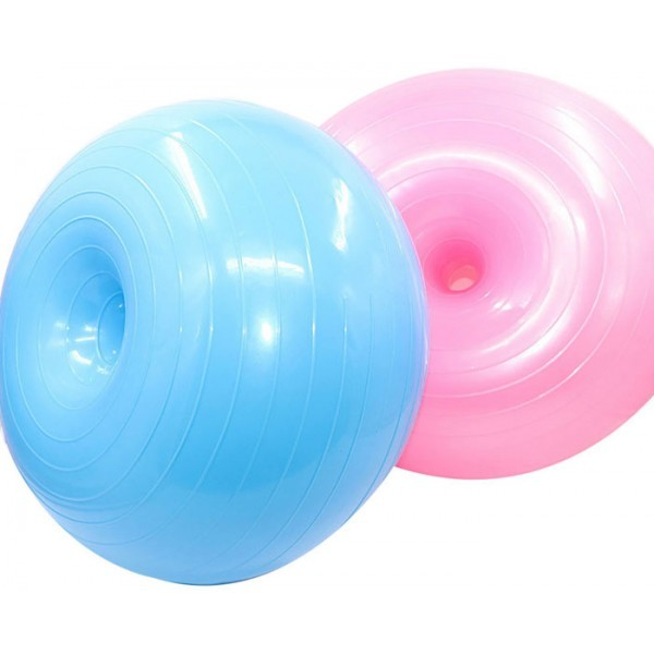 Donut Μπάλα για Yoga Μπλε 50x30cm