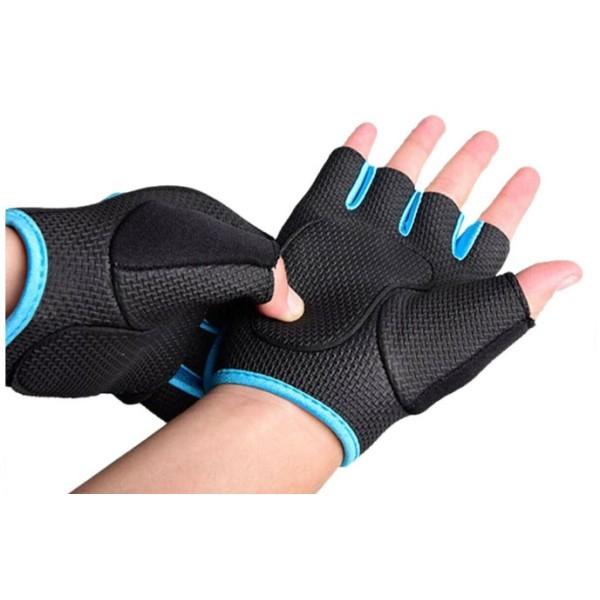 Grab Γάντια Για Γυμναστική Μαύρο Ροζ Σετ 2 Τεμαχίων Medium