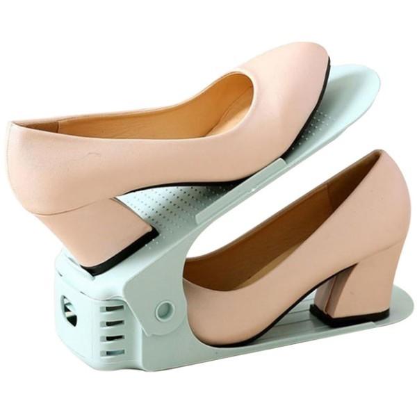 Pair Βάση Οργάνωσης Παπουτσιών Γκρι 23,5x9x16cm