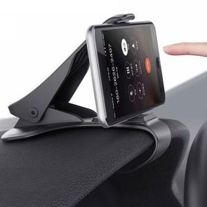 Clip Θήκη Στήριξης Κινητού Για Αυτοκίνητο Μαύρη Πλαστική