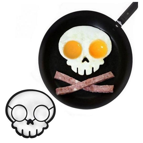 Happy Καλούπι Για Αυγά Κρανίο Μαύρο