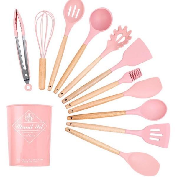 Cook Σετ Εργαλειών Μαγειρικής Ροζ