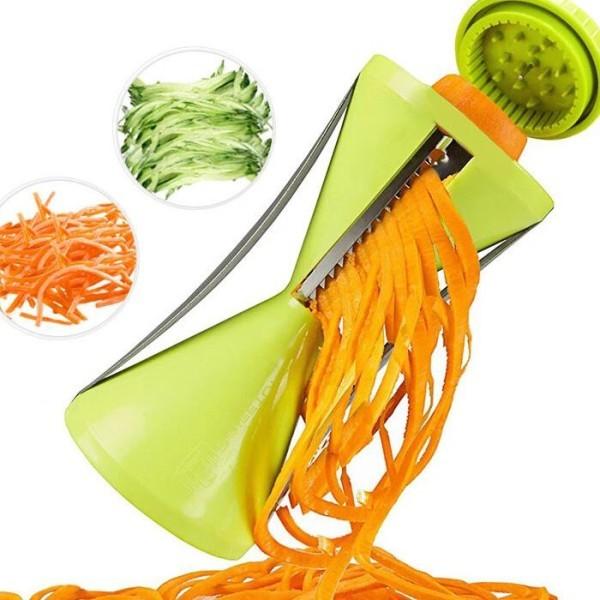 Sharp Σπειροειδής Κόφτης Λαχανικών Ανοξείδωτο Ατσάλι Πράσινος 13x7cm