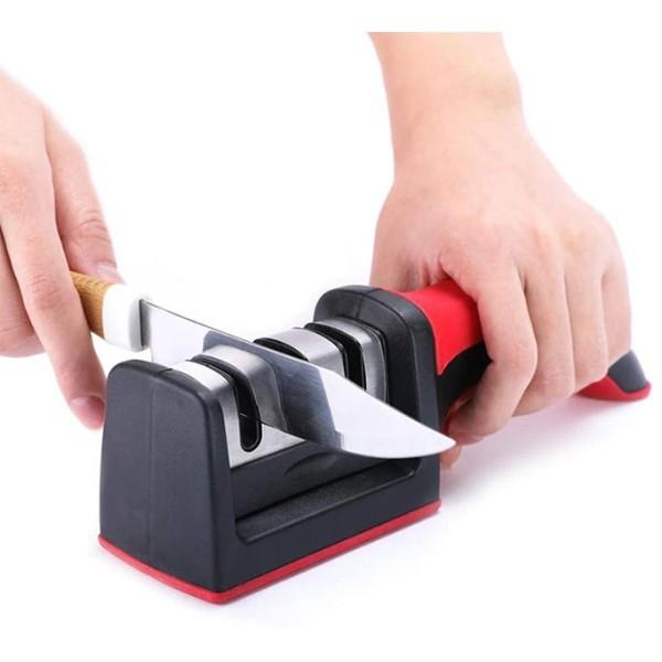 Hard Εργαλείο Τροχίσματος Μαχαιριών Κόκκινο 21,5x6,5cm