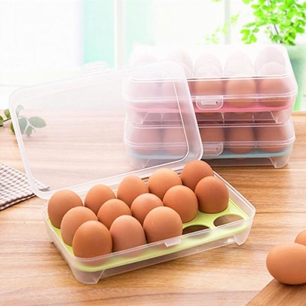 Oeuf Πλαστική Θήκη Για Αυγά 15 Θέσεων 24x15x7cm
