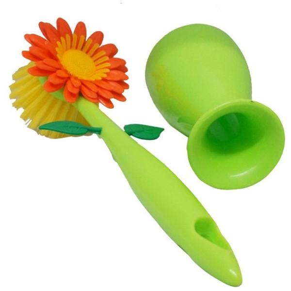 Sunflower Βούρτσα Πλυσίματος Πιάτων Πράσινη