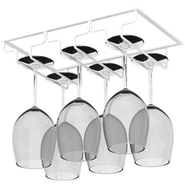 Shelf Βάση Για Κρεμαστά Γυάλινα Ποτήρια Λευκή 23,5x7x31,5cm