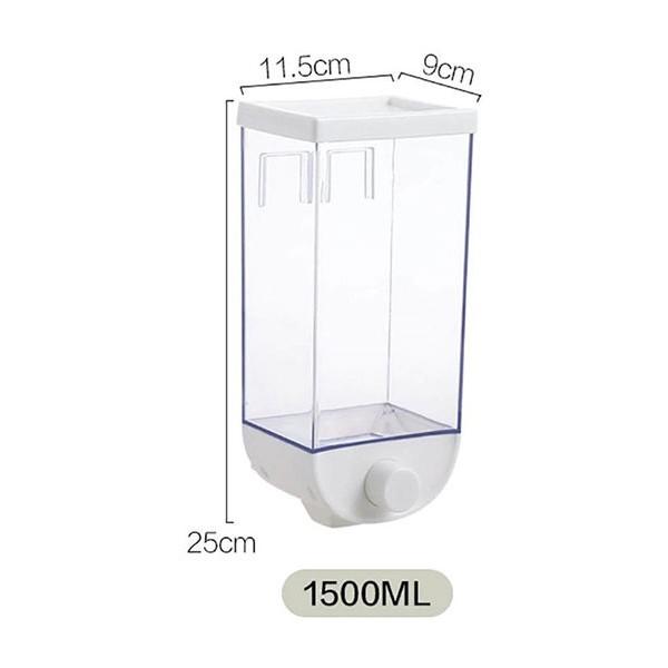 Push Επιτοίχιος Κρεμαστός Διανεμητής Φαγητού Πλαστικός 1500ml