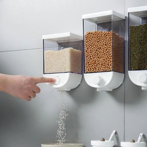 Push Επιτοίχιος Κρεμαστός Διανεμητής Φαγητού Πλαστικός 1000ml