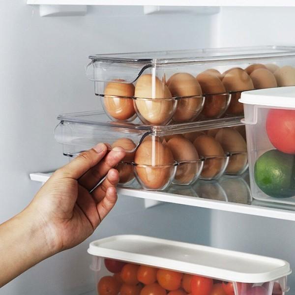 Uova Θήκη Αυγών Διάφανη Πλαστική 23x17,5x7,5cm