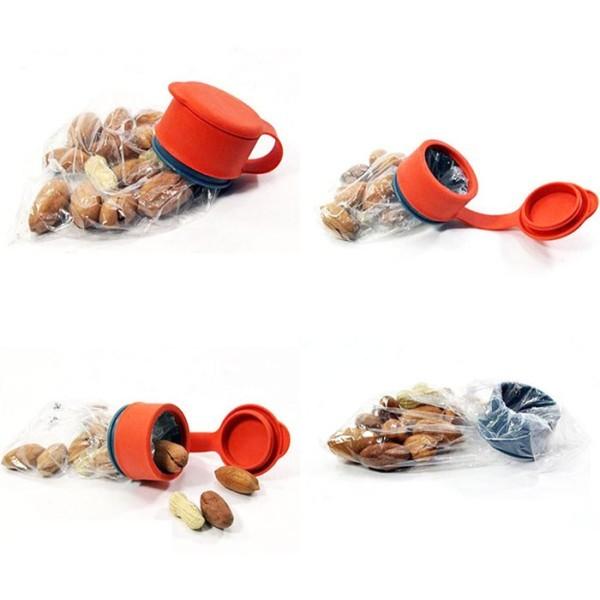 Seal Καπάκι Αεροστεγούς Κλεισίματος Για Σακούλες Πορτοκαλί 5x4,3cm