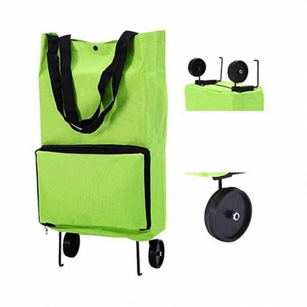 Shop Καρότσι Λαϊκής Αναδιπλούμενο Πράσινο 28x15x55cm
