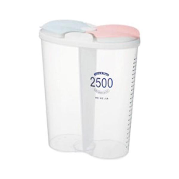 Multiple Δοχείο Αποθήκευσης Τροφίμων Πλαστικό 2500ml 24x19x16cm
