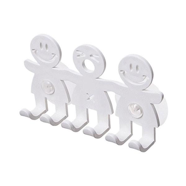 Friends Επιτοίχια Κρεμάστρα Λευκή Πλαστική