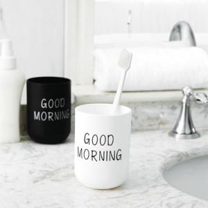 Morning Ποτήρι Για Οδοντόβουρτσα Πλαστικό 7,5x10,5cm