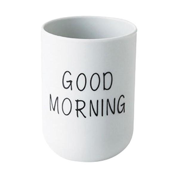 Morning Ποτήρι Για Οδοντόβουρτσα Πλαστικό Γκρι 7,5x10,5cm