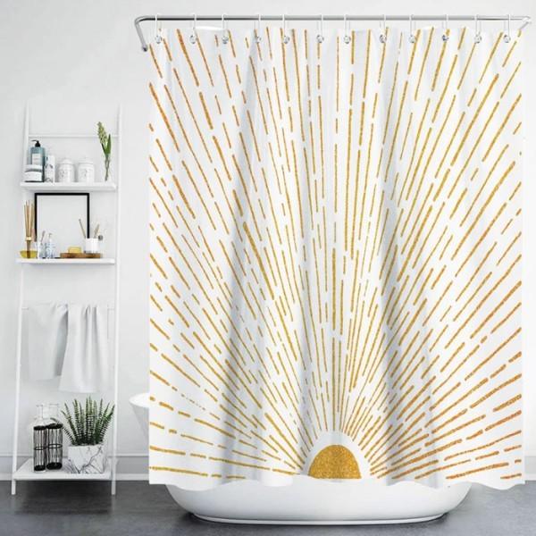 Vellum Κουρτίνα Μπάνιου Αφηρημένο 180x180cm 150gsm