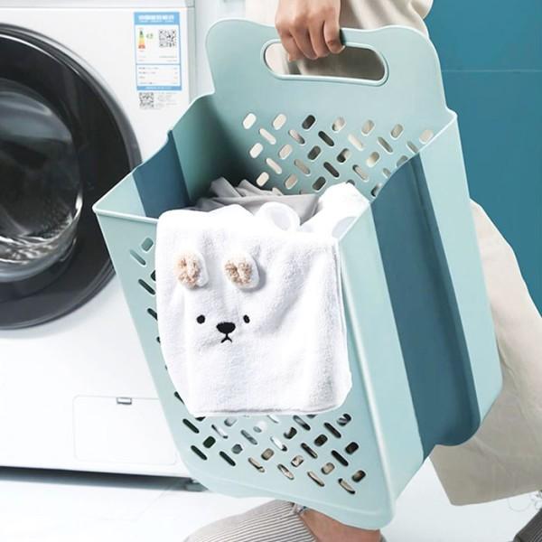 Laundry Αναδιπλούμενο Κρεμαστό Καλάθι Απλύτων 25x35x49cm